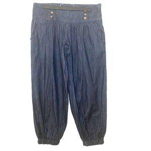 Zana Di Jeans | Mid-Rise Ankle Denim Harem Pants